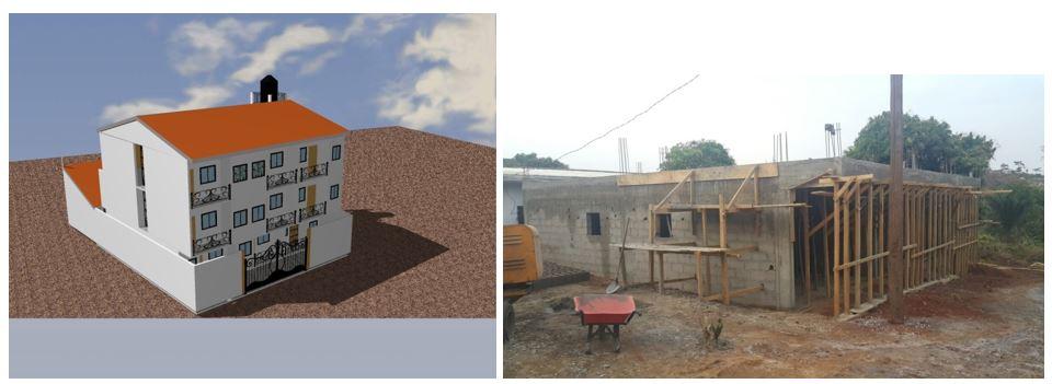 CONSTRUCTION D'UN BATIMENT TYPE RDC+2 à Yaoundé – Ba'aba à M. FEUWO TOHOTO MARTIAL