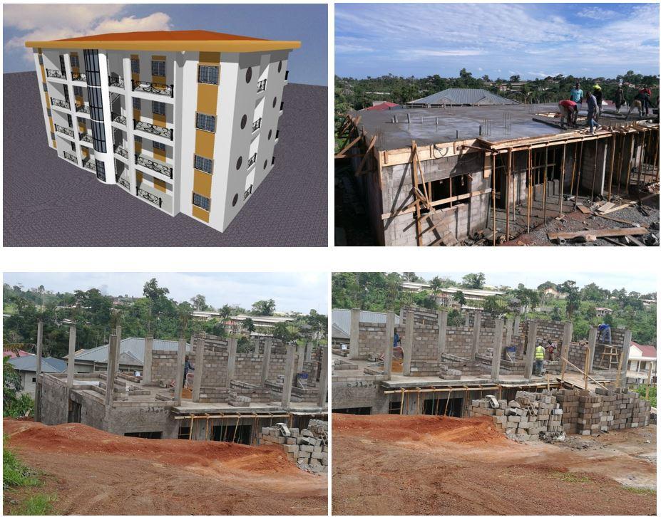 CONSTRUCTION D'UN BATIMENT TYPE RDC+3 à Yaoundé – Odza à M. NYA MARCELIN