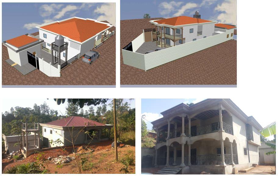 CONSTRUCTION D'UN DUPLEX à Batie à M. MICHEL NDADA
