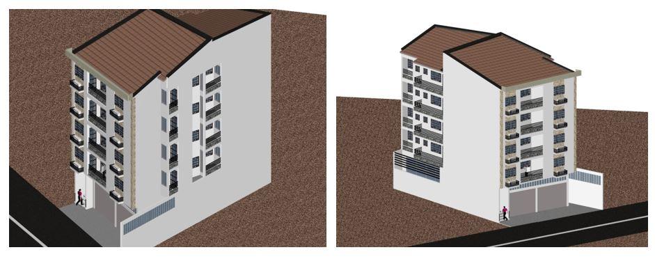 En cours - Projet de CONSTRUCTION D'UN BATIMENT DE TYPE RDC + 4 ETAGES à Douala – New Bell à M. TALLA Arnaud