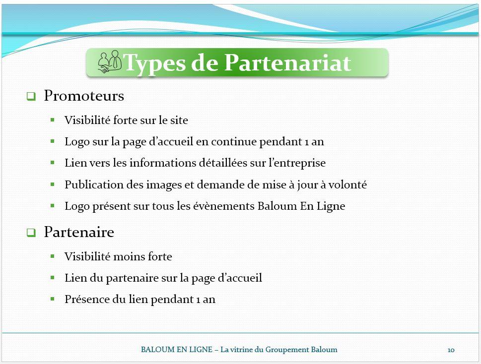 5 - Types de partenariats